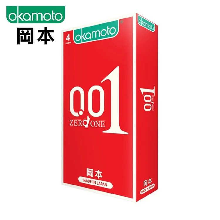 【日本の赤い悪魔】OKAMOTO 岡本001至尊勁薄保險套 ZERO ONE(4入)