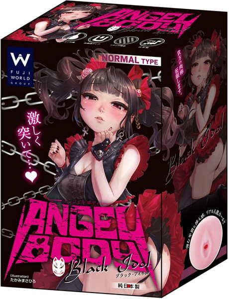 日本進口_天使身軀 黑色偶像自慰套 272g