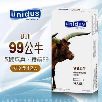 unidus優您事 動物系列保險套-99公牛-長效活力型 12入